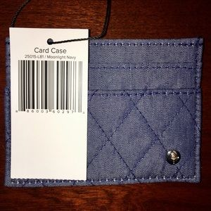 nwt vera bradley card case in moonlight navy